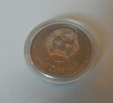 1982 Calgary Flames dollar token Lanny Mcdonald In perspex case