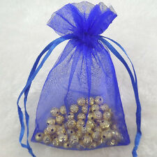 25Pcs Royalblue Organza Wedding Party Favor Decoration Gift Candy Bags 12x9cm