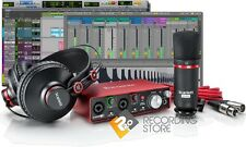Focusrite Scarlett 2i2 G2 Studio Pack Recording Bundle Mic Headphones Pro Tools