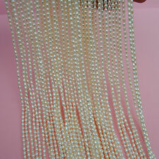 3MM White Oval rice shape Tiny Freshwater Pearls AAA One Strand 15.6'' 38CM