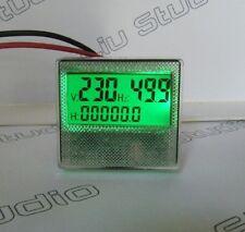 AC 300V Generator Digital Hour Frequency Voltage LED Meter Gauge 110V-/220v 240V