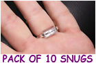 RING SNUGGIES,SNUGS - PACK OF 10 ADJUSTERS - LOOSE RING,WRONG SIZE FIX. FREEPOST
