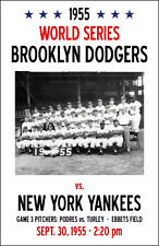 1955 World Series Poster - Brooklyn Dodgers vs. Yankees