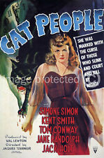 Vintage Simone Simon Horror Movie Poster Cat People 18x24