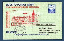 ITALIA REP. - Raid Artico Lualdi (1953) su bigl. post. da Milano a Tromsöe - MR