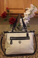 Coach Women's Laura Chalk/Navy Leather Tote #F14887 (PI100