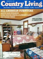 1991 Country Living Magazine: All-American Furnature/Hand-Dyed Quilts/Fondue