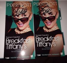 Pixie Lott Signed Breakfast At Tiffany's Theatre Flyer 100% Genuine