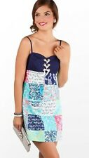 Lilly Pulitzer Rilee Dress Multi Sailor Patch Size 00