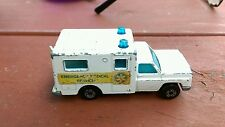 Vintage Superfast Matchbox  1977 No. 41 Ambulance Emergency Medical Service Car