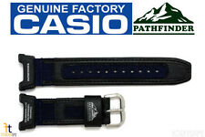 CASIO Pathfinder PAG-240B-2 Original 23mm Black w/ Blue Leather/Nylon Watch BAND