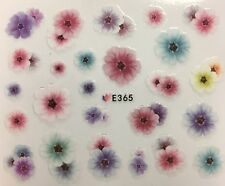 Nail Art 3D Decal Stickers Multicolored Flowers E365