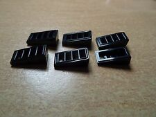 LEGO PART 61409 BLACK SLOPE WITH 4 SLOTS x 6