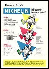 MICHELIN OMINO BIBENDUM GUIDE CARTE VIAGGI ESTERO TURISMO MONUMENTI 1956