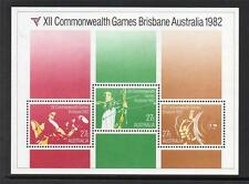 AUSTRALIA MNH 1982 MS863 COMMONWEALTH GAMES - BRISBANE MINISHEET