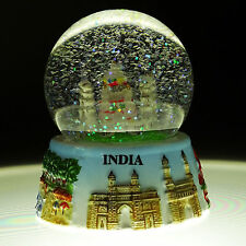 Indian Decorative Taj Mahal Snow Globe Dome Paper Weight Gift Car Table Decor