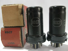 2 matched 1945 'MeatBall' RCA-Radiotron 6SC7 tubes - New Old Stock / New
