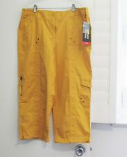 Style&Co. Womens Cargo Capri Pants Honey Glaze Sz 12 - NWT