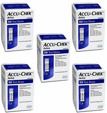 Accu-Chek Aviva 250 Gluco Test Strips, (5x50) EXP 2017  DHL Also Available
