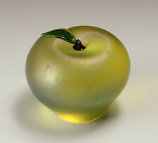 Orient & Flume Art Glass Apple Paperweight G.G.W.A. Signed with original label