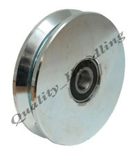 Gate wheel pulley wheel 140mm V groove steel wheel, Double ball bearing, heavy