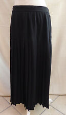 "Yessica C&A black vint/retro heavily pleated long skirt W 30.5"" Size 14 / 16 ?"