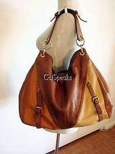 VINTAGE COLORBLOCK ISABELLA FIORE LEATHER HOBO BAG
