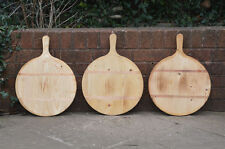 3x dough boards vintage round wooden pizza bread board trays tray FREE POSTAGE