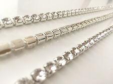 1 Metros Diamante Cristal Cadena Cerrar Eslabón SILVER Una Calidad - SS28-6MM