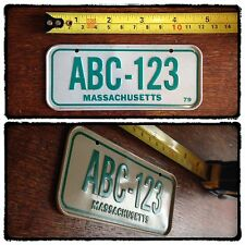 UNUSED USA MASSACHUSETTS BICYCLE LICENCE PLATE METAL SCHWINN CRUISER MUSCLEBIKE