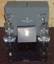 "NEW WATERFORD SEAHORSE 6"" CANDLESTICKS ~ CANDLE PAIR IN THE BOX Sold Out"