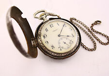 1900's Doxa silver Firefighters Antique pocket watch carpet dilizhans