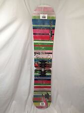 BEGINNER GIRLS/WOMEN'S F2 GLAM TWIST BOARD 151CM SNOWBOARD Free Stomp