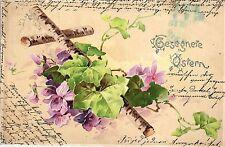 Ostern, Blumen, Kreuz aus Birkenholz, 1904