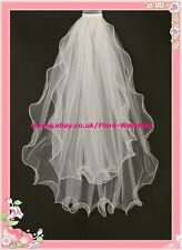 2T IVORY WAIST LENGTH WEDDING BRIDAL SOFT VEIL/TULLE,pn