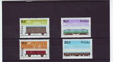 POLAND - SG3006-3009 MNH 1985 RAILWAY ROLLING STOCK