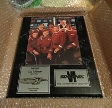 Star Trek VI The Undiscoverd Country The Crew USS Enterprise Plaque QVC L@@K