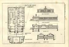 1900 bangor free library elevation et plan