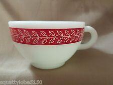 Pyrex Red Laurel Leaf Tea Coffee Cups Set of 4 Tableware Corning