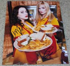 TWO BROKE GIRLS CAST SIGNED AUTOGRAPH BETH BEHRS KAT DENNINGS 8x10 PHOTO w/PROOF
