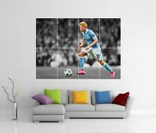 KEVIN DE BRUYNE MANCHESTER CITY FC BELGIUM GIANT WALL ART PICTURE PHOTO POSTER