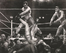 Dempsey and Firpo George Wesley Bellows Boxen Sport Ring Kampf Männer B A3 02053