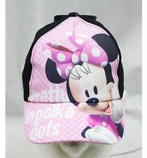 NWT Disney Minnie Mouse Baseball Cap Black Pink-  Child Size Licensed Disney