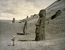 Photo of a Man on Easter Island
