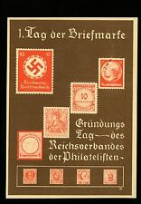 Postal History Germany H&G #K10+Scott #473 on Postal Card picturing Stamps 1936