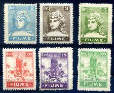 FIUME 1919 - ALLEGORIE  VALORI VARI   NUOVI **