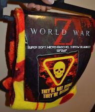 "World War Z Fleece Throw Blanket 50"" by 60"" Super Soft & Comfy Licensed"