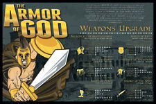 ARMOR OF GOD (Ephesians 6:11-13) Inspirational Christian Faith Warrior POSTER