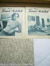 11 SCHNITTMUSTER Meyers schweizer Frauen- Modeblatt 1938 9 10 15. Jahrgang Heft