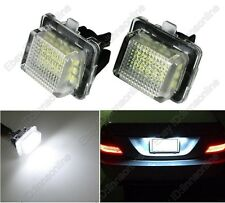 2 Bulbs Xenon White LED Number Plate Lights For Benz E-Class W212 2010-2014